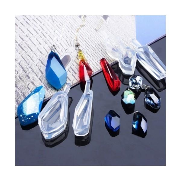S1186545 PAX 1 Moule en Silicone forme Futuriste 5,6cm pour Creation Fimo Cernit Resine - Photo n°3
