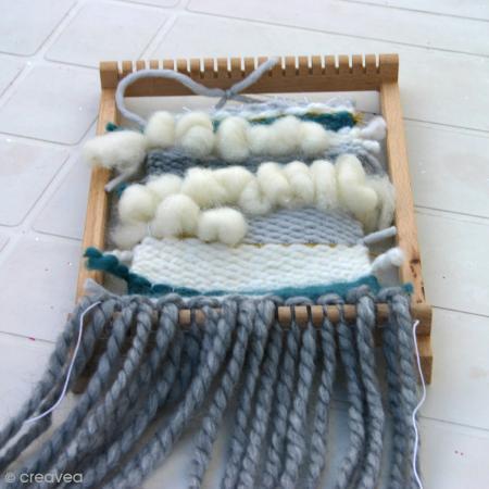 Grand métier à tisser en bois - 39 x 30 cm - Photo n°3