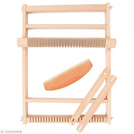 Grand métier à tisser en bois - 39 x 30 cm - Photo n°1