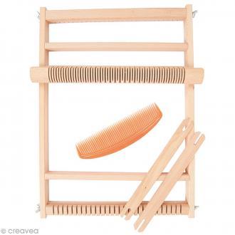 Grand métier à tisser en bois - 39 x 30 cm