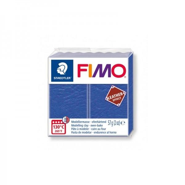 1 pain 56g pate polymère FIMO Effet CUIR Indigo 8010-309 - Photo n°1