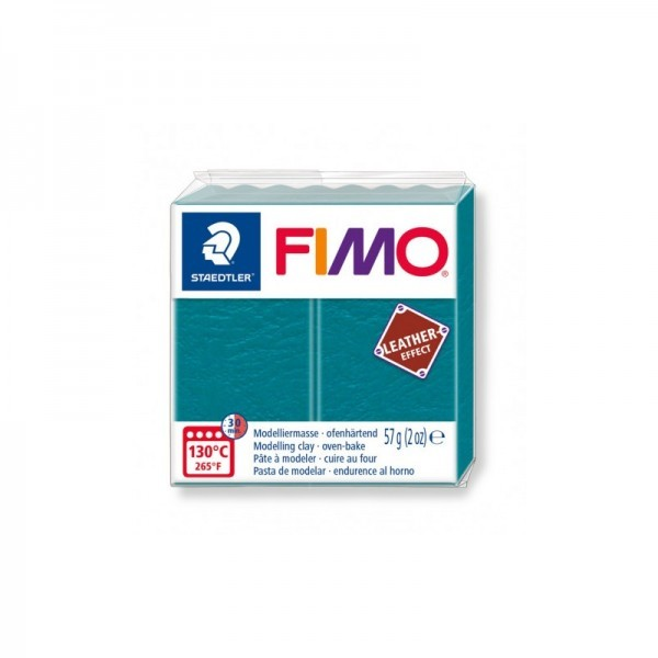 1 pain 56g pate polymère FIMO Effet CUIR Lagon 8010-369 - Photo n°1