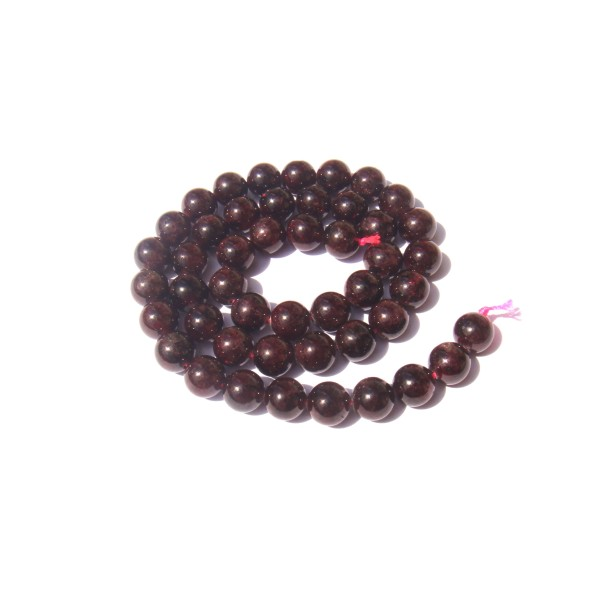 Grenat Almandin : 10 perles 8 MM de diamètre - Photo n°1