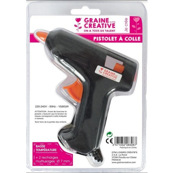 Petit Pistolet à Colle chaude basse température, 2 recharges Ø 7 mm, 10W, pour scrapbooking - Photo n°2