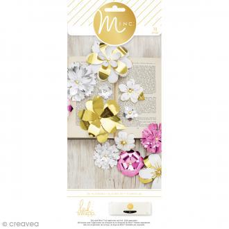 Kit die cut pour machine Minc - Fleurs 3D - 63 pcs