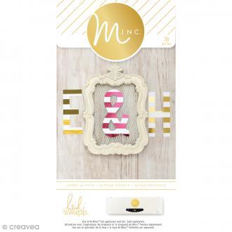 Die cut Lettres de l'alphabet Jumbo pour machine Minc - 38 pcs