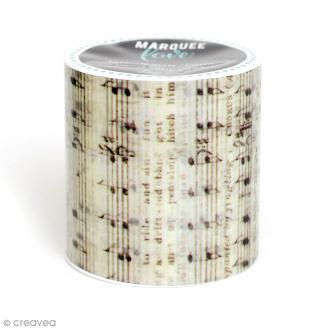 Masking tape large Marquee Love - Notes de musique - 5,08 cm x 2,74 m