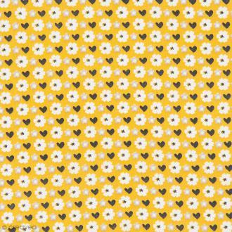 Tissu Rico Design - Fleurs - A la coupe par 10 cm (sur mesure)