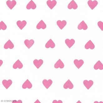 Tissu Rico Design - Coeur - A la coupe par 10 cm (sur mesure)