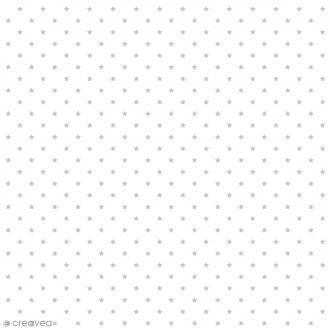 Tissu Rico Design - Etoile argent - A la coupe par 10 cm (sur mesure)