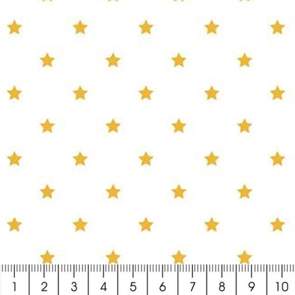 Tissu Rico Design - Etoile or - A la coupe par 10 cm (sur mesure) - Photo n°2