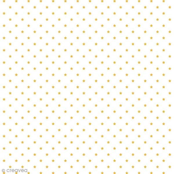 Tissu Rico Design - Etoile or - A la coupe par 10 cm (sur mesure) - Photo n°1