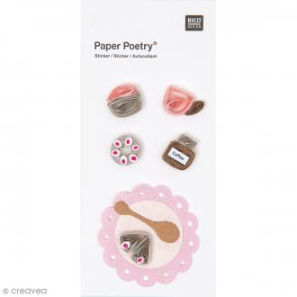 Stickers Quilling Goûter rose clair - 5 pcs