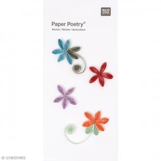 Stickers Quilling Fleurs - 4 pcs