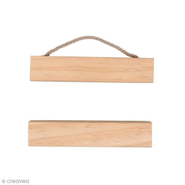 Suspension en bois pour poster - 10 cm - 1 pc - Photo n°1