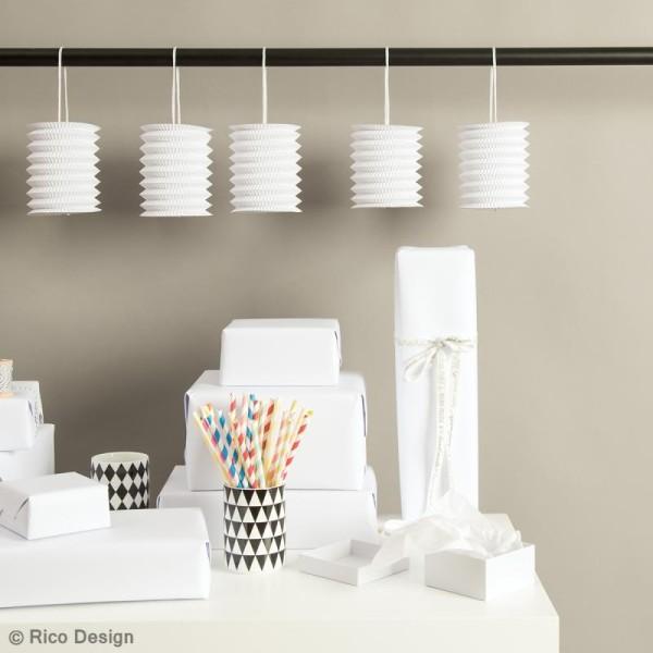 Lanternes en papier - Blanc - 10 x 14 xm - 5 pcs - Photo n°2