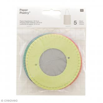 Lanternes en papier - Multicolore - 10 x 14 xm - 5 pcs