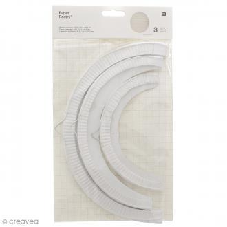 Lampions en papier - Blanc - 3 tailles - 3 pcs