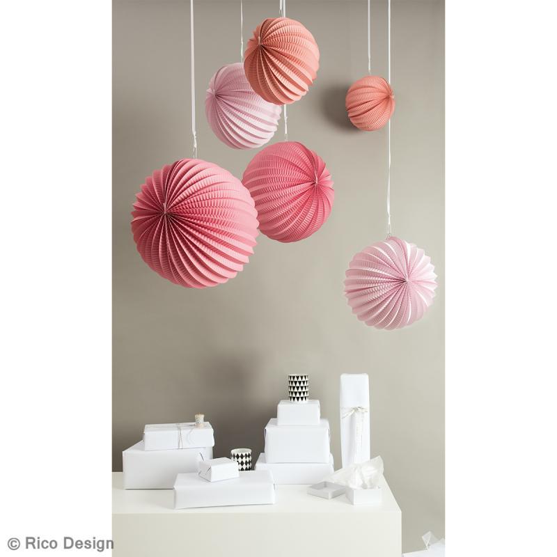 Lampions en papier - Eté - 3 tailles - 3 pcs - Photo n°2