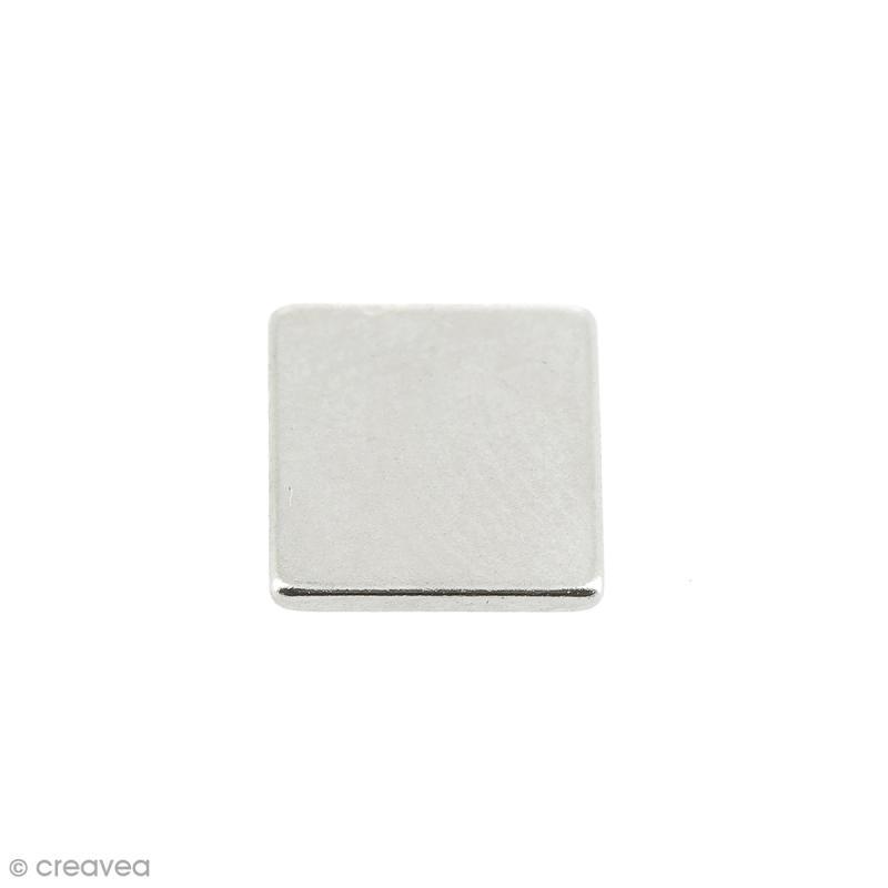 Aimant néodyme - Carré - 7 x 7 x 1 mm -10 pcs - Photo n°1
