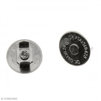 Fermeture magnétique à griffes - Ronde - Noir - 14 x 2 mm - 5 pcs
