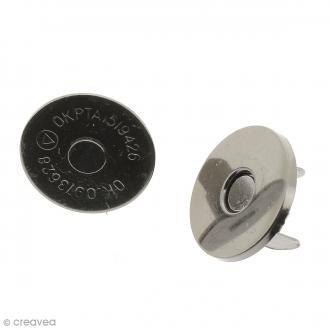 Fermeture magnétique à griffes - Ronde - Noir - 18 x 2 mm - 5 pcs
