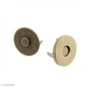Fermeture magnétique à griffes - Ronde - Bronze - 14 x 2 mm - 5 pcs