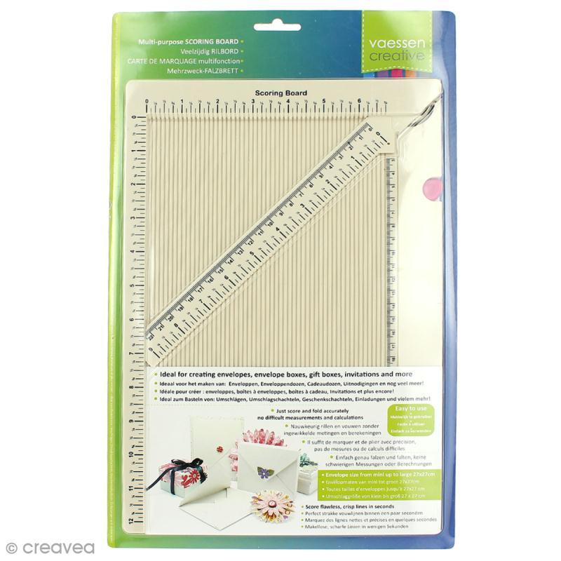 Planche de rainurage et de création de carterie / pliage enveloppe - 34,5 x 23 cm - Photo n°1
