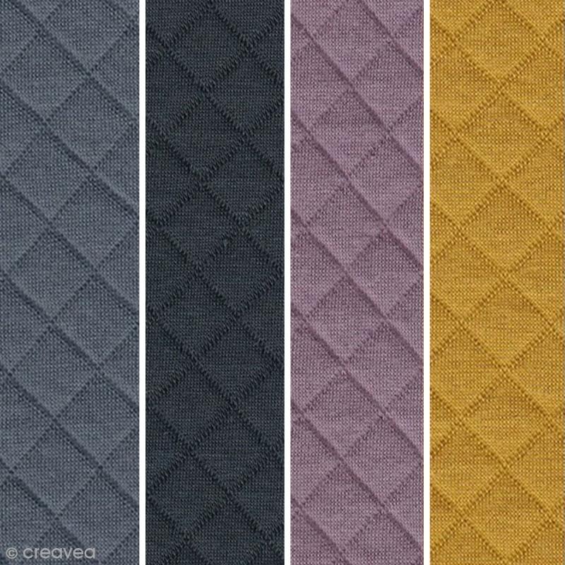tissu jersey matelass france duval stalla par 10 cm sur mesure tissu au m tre creavea. Black Bedroom Furniture Sets. Home Design Ideas