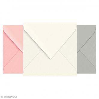 Enveloppe doublée Vergé de France 140 x 140 - 25 pcs