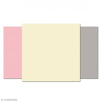 Papier Vergé de France carte 130 x 130 - 25 pcs
