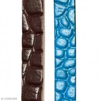 Bande de cuir effet peau de crocodile 10 mm - 1 mètre