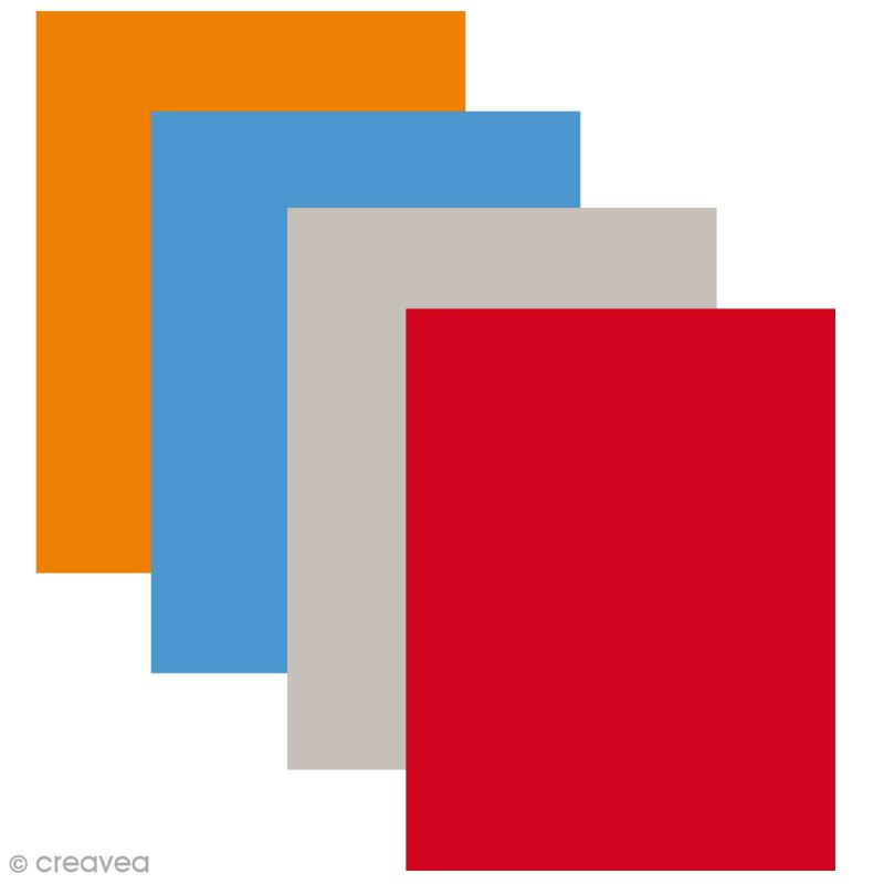 Feutrine polyester 1,3 mm 24 x 30 cm - 12 couleurs - Photo n°1