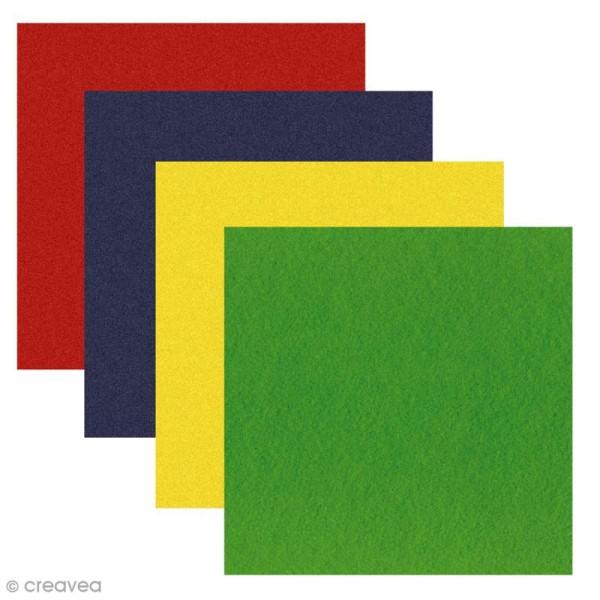 Feutrine épaisse et rigide - 2 mm - 30 x 30 cm - 32 couleurs - Photo n°1