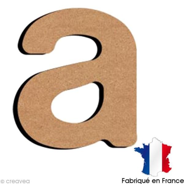 Lettre minuscule en bois A 5 cm - Photo n°1