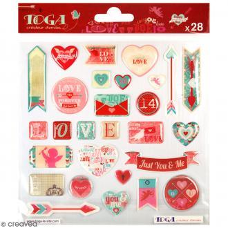 Stickers 3D A la folie - 28 pcs