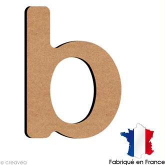 Lettre minuscule en bois B 5 cm