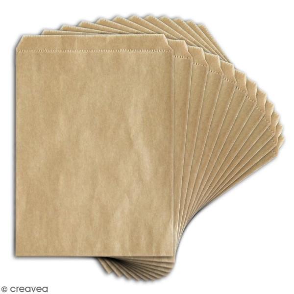 Lot de sachets 10 x 15 cm en papier - Kraft - 12 pcs - Photo n°2