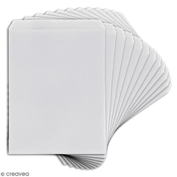 Lot de sachets 10 x 15 cm en papier - Blanc - 12 pcs - Photo n°2