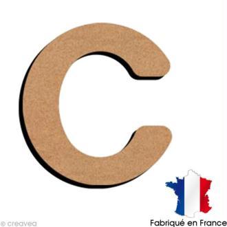Lettre minuscule en bois C 5 cm