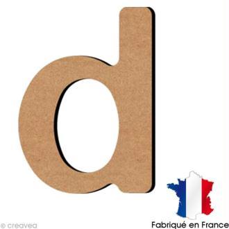Lettre minuscule en bois D 5 cm