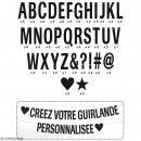 Kit guirlande de lettres - Noir - Photo n°3