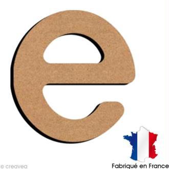 Lettre minuscule en bois E 5 cm