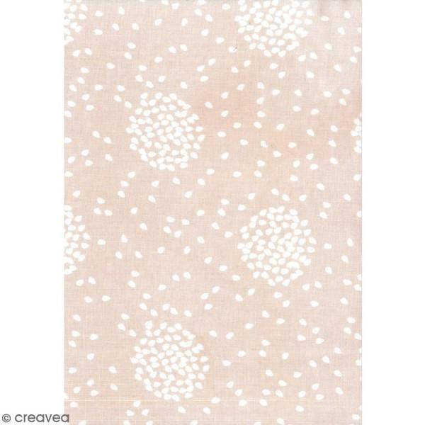 Daily like Rose blush - Envolée de pétales - Tissu autocollant A4 - Photo n°1