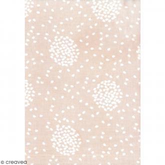 Daily like Rose blush - Envolée de pétales - Tissu autocollant A4