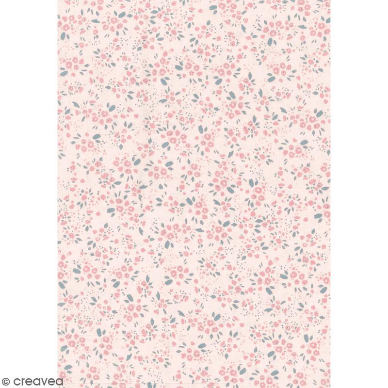 Daily like rose fleurs tissu autocollant a4 tissu - Attache cadre autocollant ...