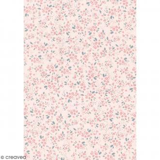 Daily like Rose - Fleurs - Tissu autocollant A4