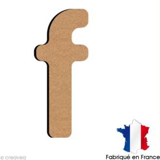 Lettre minuscule en bois F 5 cm