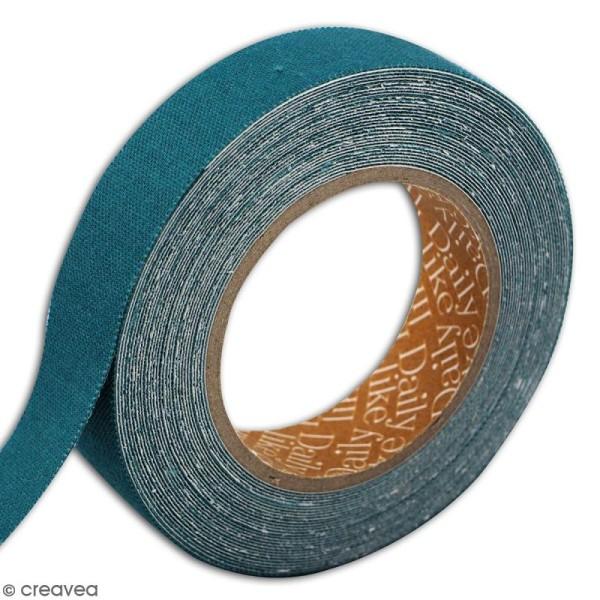 Masking tape tissu - Bleu canard - Daily Like - 5 m - Photo n°3