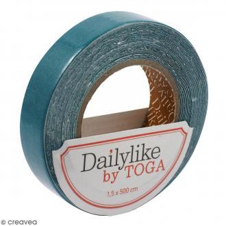 Masking tape tissu - Bleu canard - Daily Like - 5 m